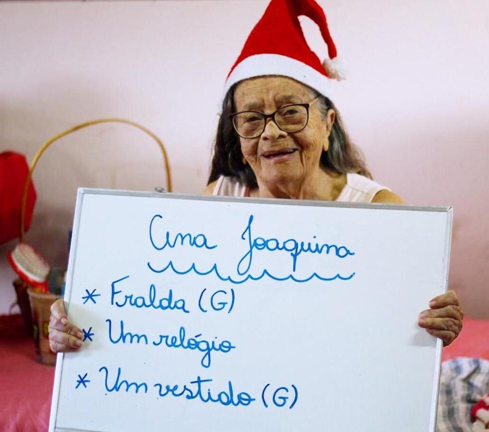 Ana Joaquina pediu um vestido, relógio e fralda de presente — Foto: Divulgação/Thaína Pires