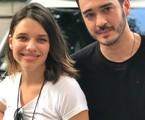 Bruna Linzmeyer e Marcos Veras gravam o último capítulo de 'Pega pega' | TV Globo/Divulgação