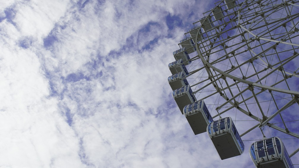 Maior roda-gigante da América Latina inaugura nesta sexta-feira (6) — Foto: Gustavo Wanderley/G1