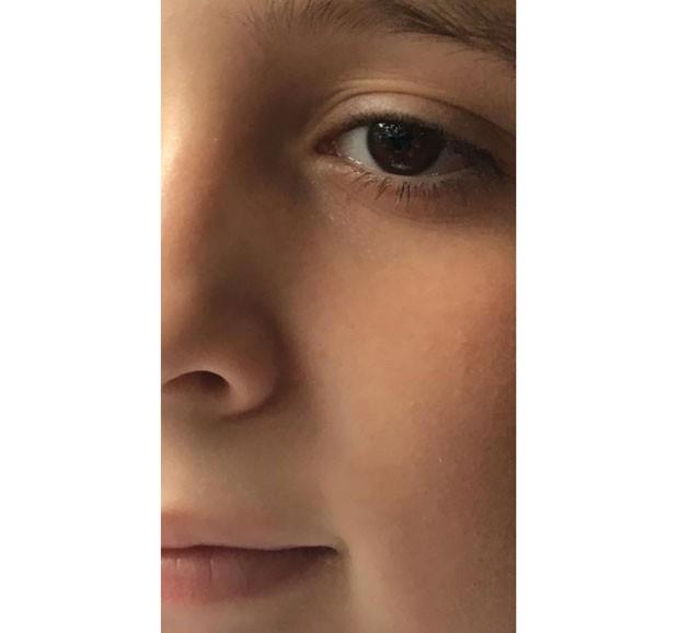 António, 9, em foto postada pela mãe no post que viralizou (Foto: Reprodução Facebook)