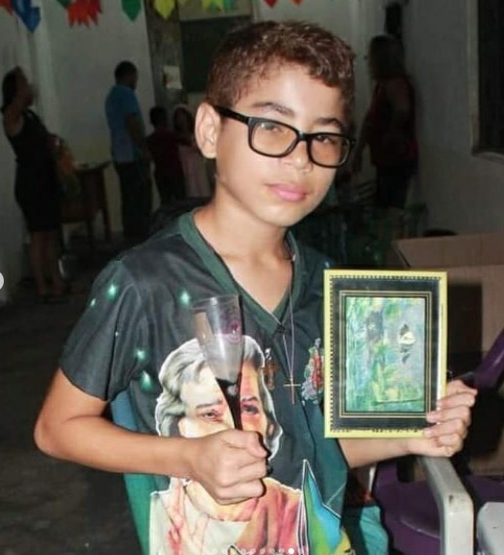 Paróquia São Pedro onde a vítima frequentava quase diariamente lamentou a morte do jovem. — Foto: Reprodução/Arquivo Pessoal