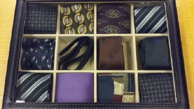 Caixa de gravatas à disposição para empréstimos na Biblioteca Pública de Nova York (Foto: Divulgação New York Public Library)