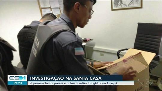 Médicos e ex-gestores da Santa Casa de Guaçuí são alvos de operação do MPES