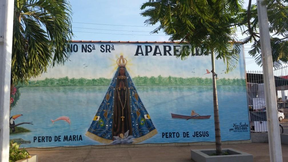 Celebração foi para lembrar os 300 anos da aparição de N. Senhora Aparecida (Foto: Rose Lopes/Rede Amazônica)