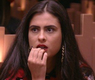 Hana, do 'BBB' 19, durante a estreia do programa | Reprodução