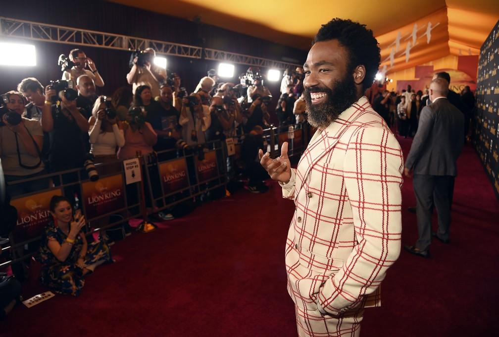 """Donald Glover durante pré-estreia de """"O Rei Leão"""" — Foto: Chris Pizzello/Invision/AP"""