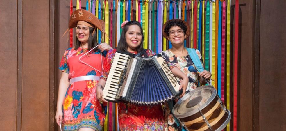 Trio As Fulô do Sertão se apresenta no Teresina em Ação deste sábado (15) — Foto: Divulgação