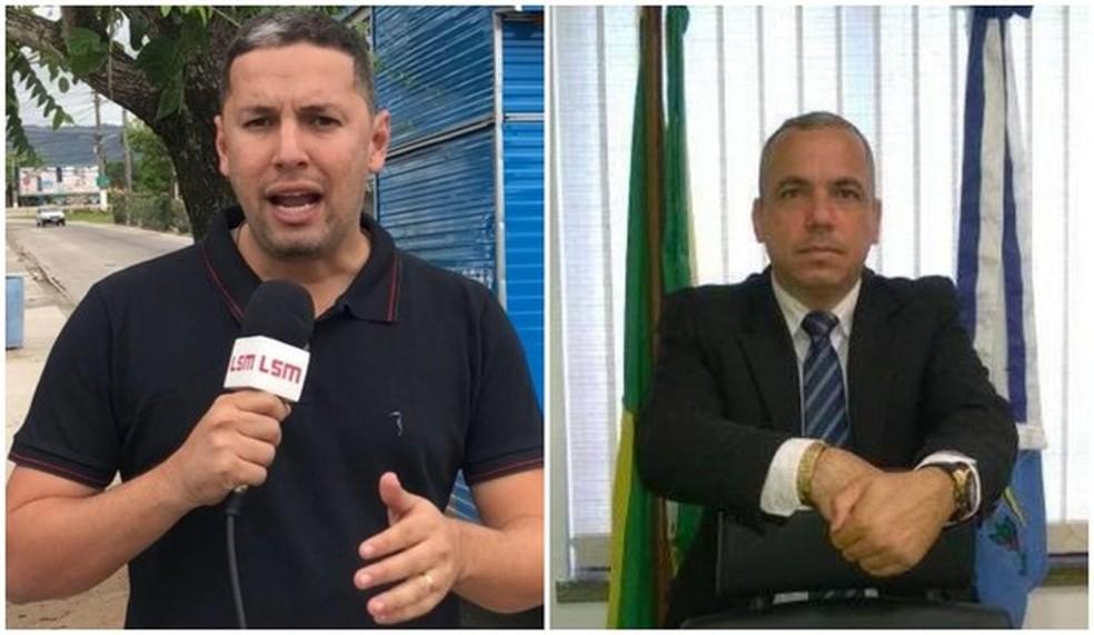 Jornalistas Romário Barros e Robson Giorno foram mortos em Maricá, RJ, em menos de um mês — Foto: Reprodução/Facebook