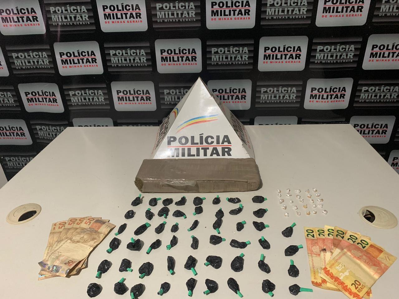 Um jovem é detido e dois adolescentes apreendidos com drogas em Patrocínio