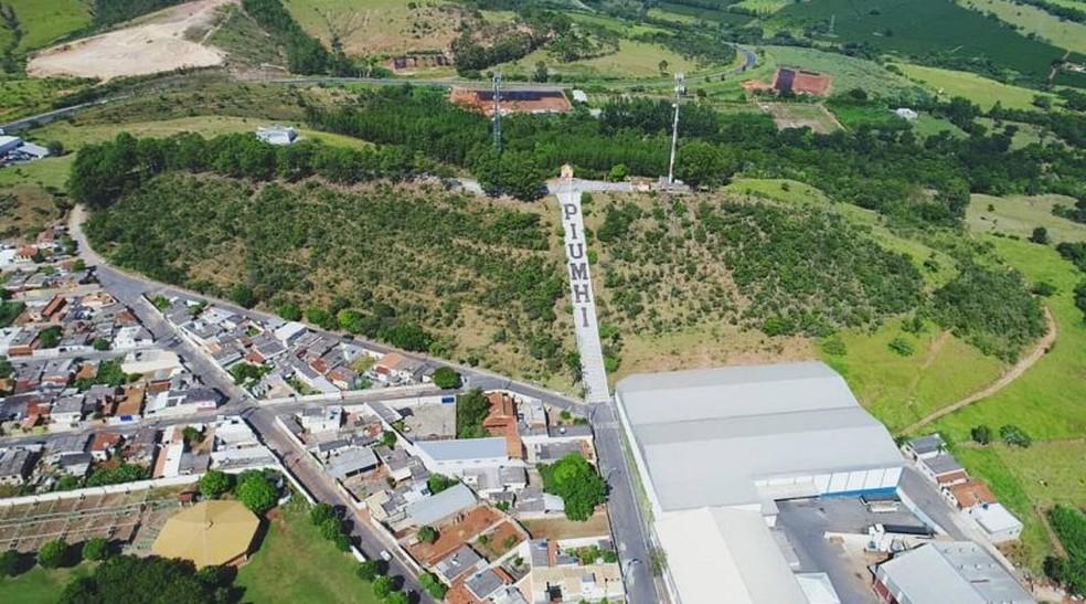 Vista aérea do município de Piumhi — Foto: Prefeitura de Piumhi/Divulgação