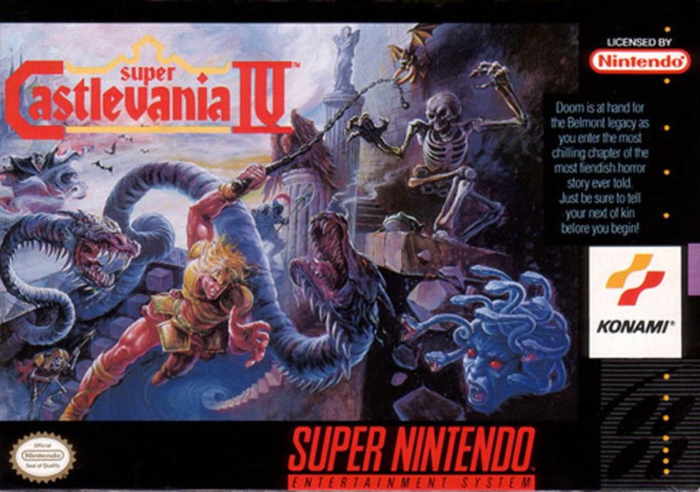 Super Castlevania IV é uma ótima experiência para quem gosta de jogos de plataforma — Foto: Divulgação/Konami
