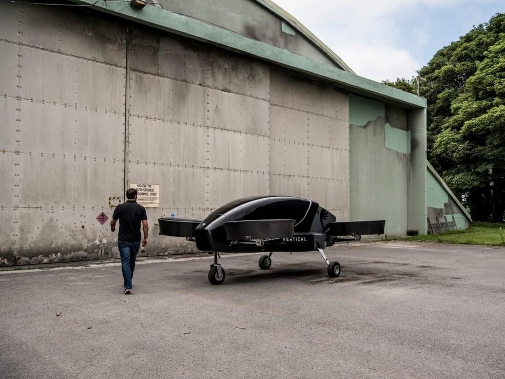 Táxi voador da Vertical Aerospace pesa 750 quilos e precisa de piloto para voar — Foto: Divulgação/Vertical Aerospace