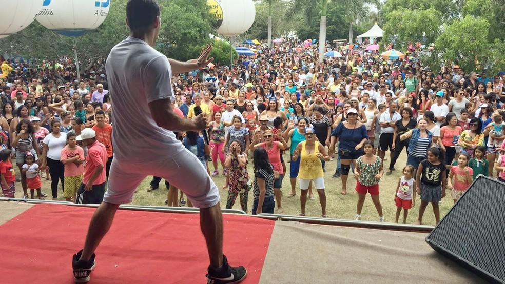 Parque da Criança é uma boa opção para praticar atividades físicas, em Campina Grande — Foto: Daniel Sousa/TV Cabo Branco