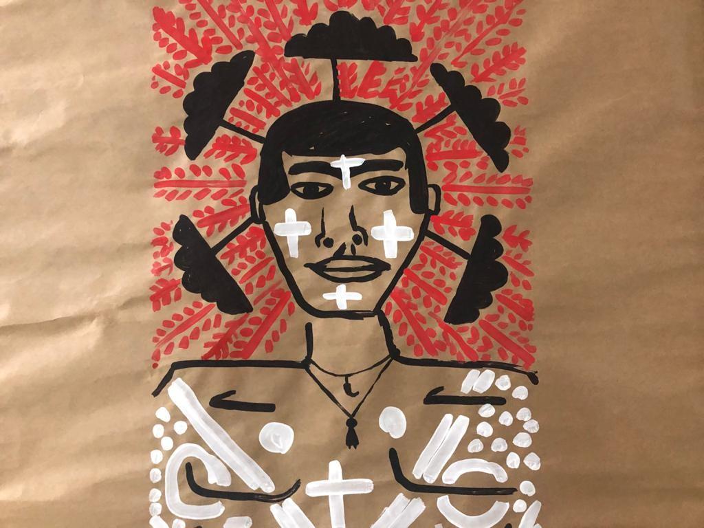 Estudante indígena de medicina da UnB cria obras sobre própria cultura em forma de 'desabafo'