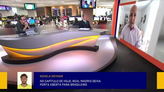"""Comentaristas debatem """"aflição"""" do Real Madrid com chance de Neymar voltar ao Barcelona"""