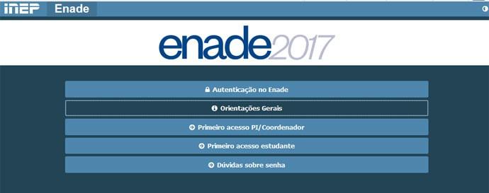 Local de prova do Enade 2017 pode ser conferido no cartão de inscrição