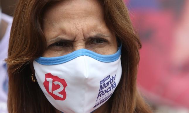 A candidata Martha Rocha na véspera da eleição de 2020