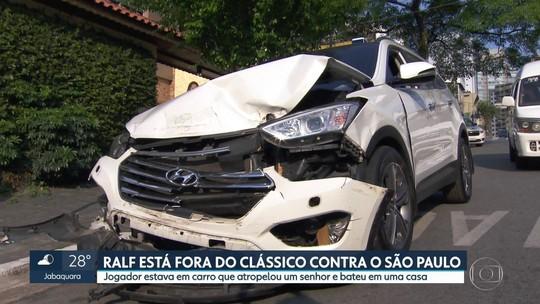 Liberado de treino do Corinthians, Ralf presta depoimento sobre acidente; idoso segue internado