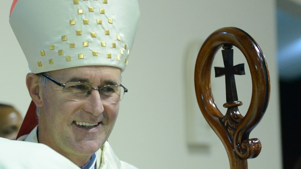 Arcebispo João Inácio passou uma semana em Limeira para ouvir testemunhas a pedido do Vaticano — Foto: FranciscanosRS.org/Divulgação