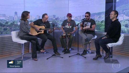 O Grupo Barão Vermelho faz show nesse sábado à noite no Rio