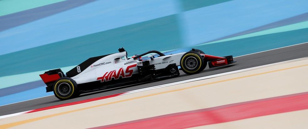 Haas vem ocupando o quinto lugar no Mundial de Construtores em 2018 — Foto: Reuters