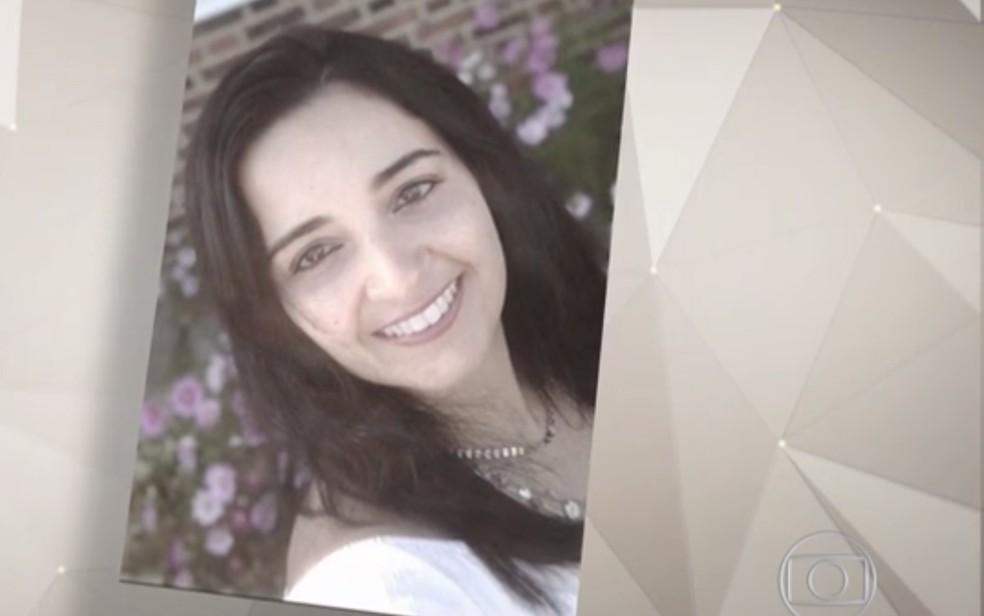 Aliny Mendes, de 39 anos, morava no Reino Unido — Foto: Reprodução/TV Globo