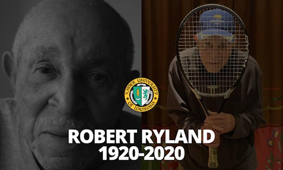 Primeiro tenista negro profissional, Robert Ryland morre aos 100 anos — Foto: Twitter/ Xavier Univ. of LA