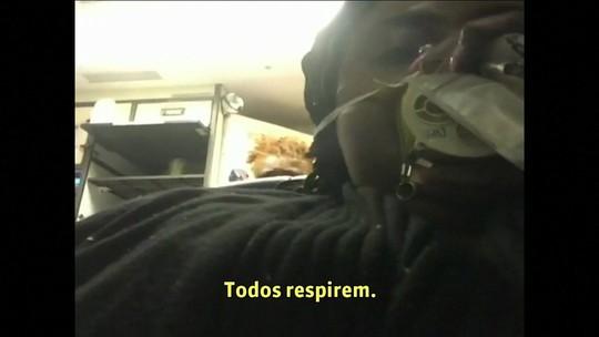 Vídeo mostra pânico no avião no qual mulher foi sugada nos EUA