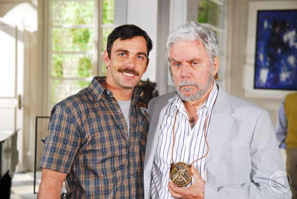 Marcelo e Reginaldo Faria — Foto: Acervo TV Globo