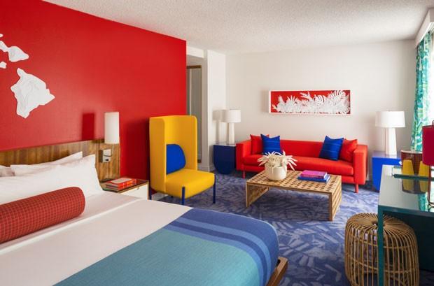 Décor do dia: quarto praiano com cores marcantes (Foto: ADAM KANE MACCHIA)