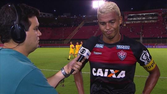 """""""Resultado ridículo"""", dispara André Lima após mais uma goleada sofrida pelo Vitória"""
