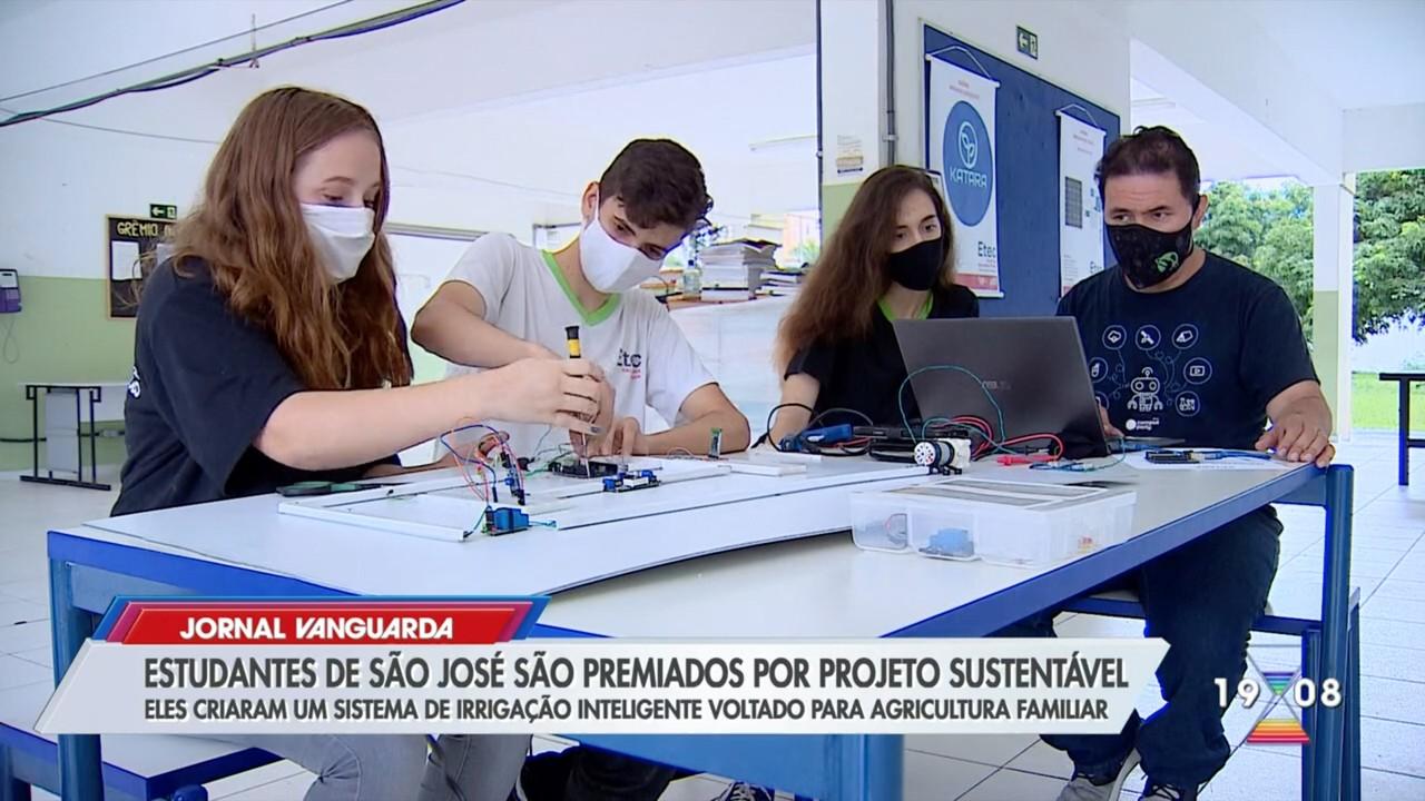 Estudantes da Etec de São José são premiados por sistema de irrigação controlado via app