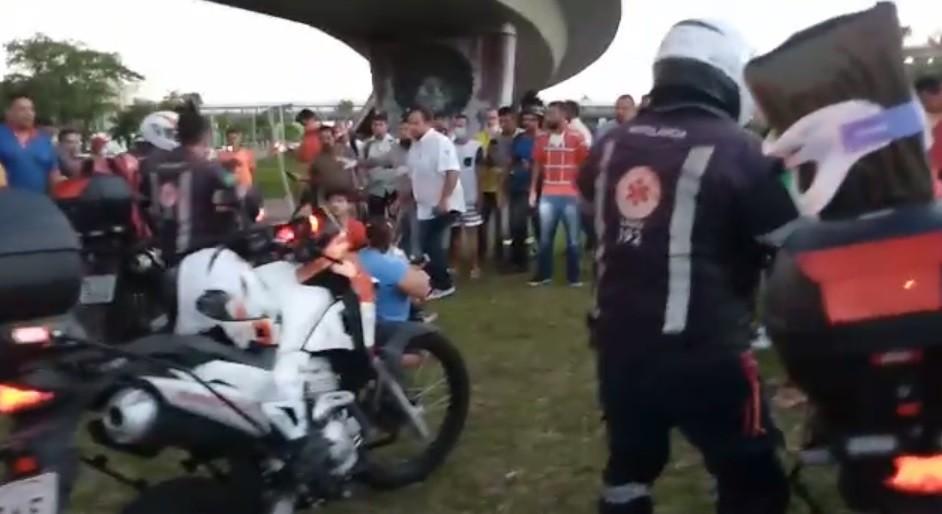 Pai e duas crianças ficam feridos após cair de viaduto que dá acesso ao Aeroporto do Recife