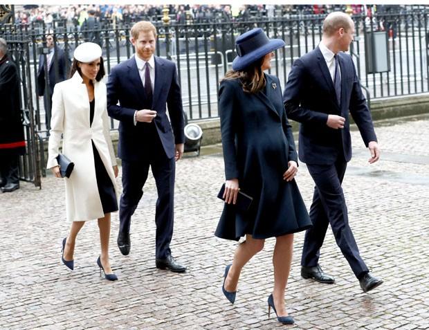 Meghan Markle, o princípe Harry, Kate Middleton e o príncipe William (Foto: Getty Images)