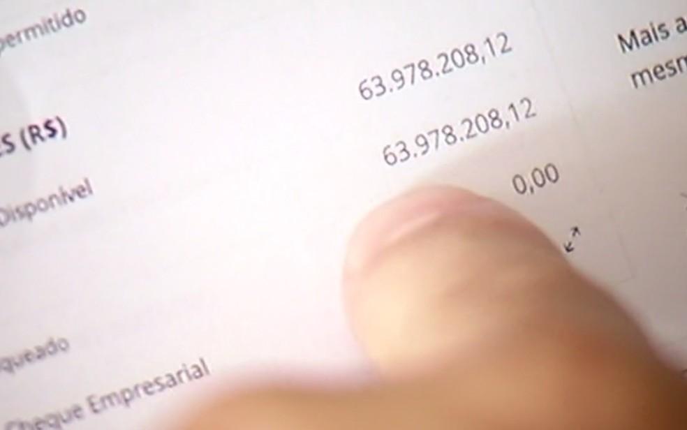 Comerciante recebe R$ 63,9 milhões por engano e devolve valor ao banco, em Rio Verde — Foto: Reprodução/TV Anhanguera