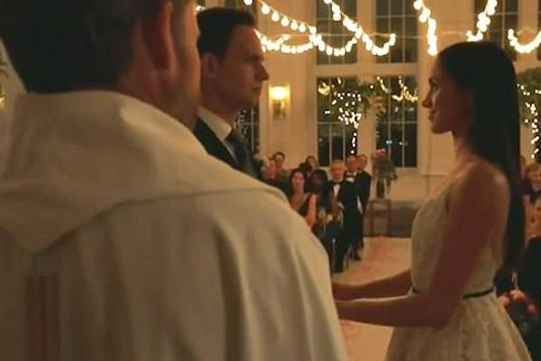 O casamento da personagem de Meghan Markle na série Suits (Foto: Instagram)