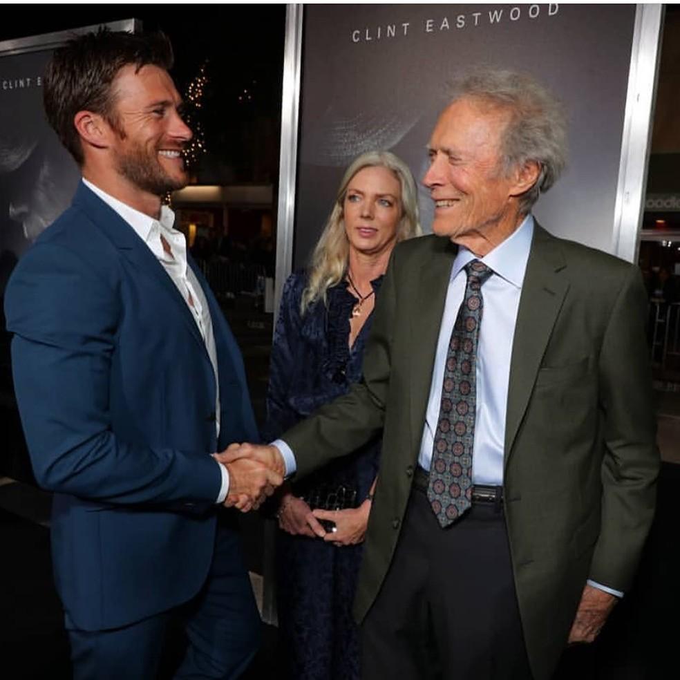 Scott Eastwood e Clint Eastwood  — Foto: Reprodução/Instagram