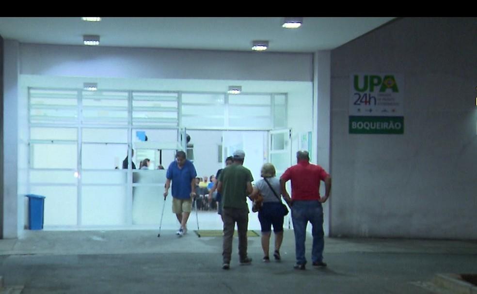 Paciente morreu na UPA do Boqueirão enquanto aguardava para ser transferida para hospital. — Foto: Reprodução/RPC