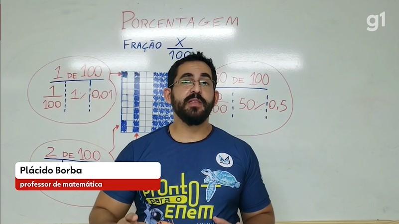 Lá Vem o Enem: videoaula de matemática explica porcentagens