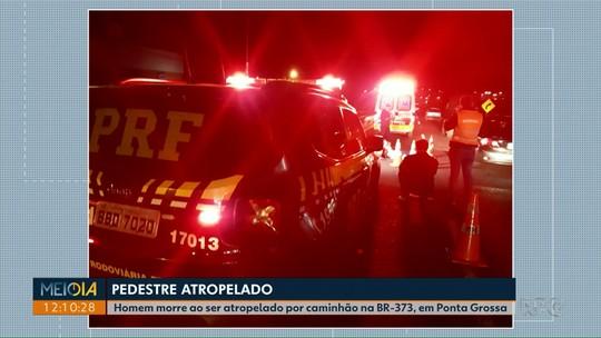Pedestre morre após ser atropelado por caminhão na BR-373