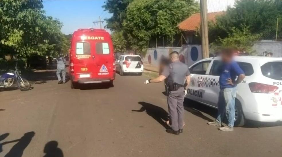 Homem é preso suspeito de matar a esposa e tentar suicídio em Andradina — Foto: Manoel Messias/Mil Notícias