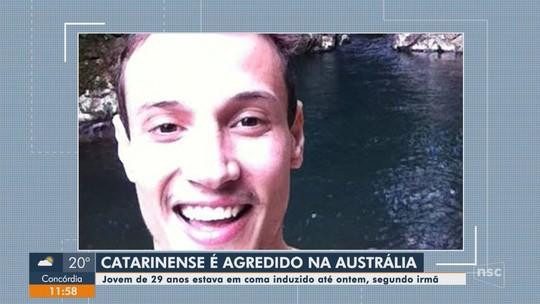 Catarinense segue com quadro estável em hospital da Austrália após ser agredido