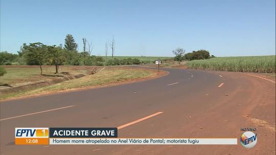 Homem morre após ser atropelado por Kombi no Anel Viário em Pontal, SP