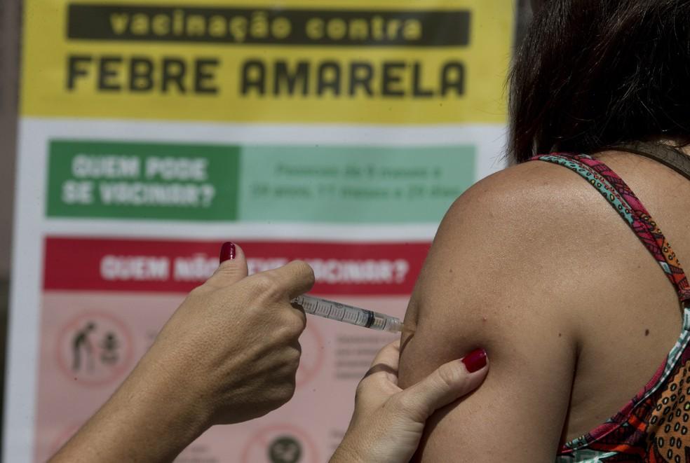 Vacinação contra a febre amarela em Arujá (Foto: Nadja Cortes/ Prefeitura de Arujá)