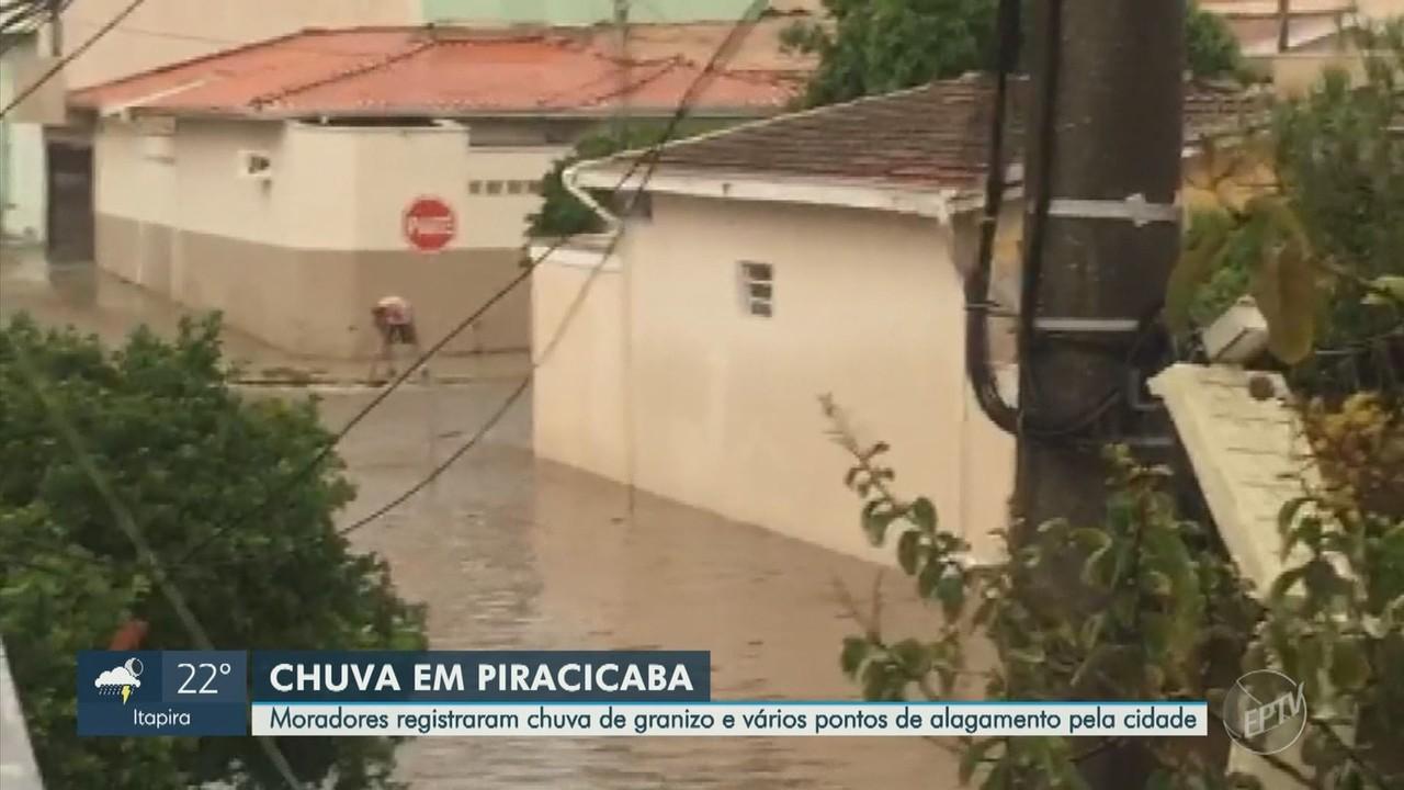 Em Piracicaba, chuva provoca pontos de alagamento nesta sexta-feira (26)