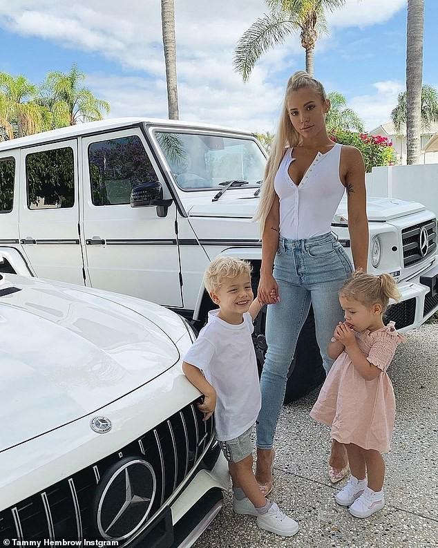 Tammy Hembrow e os filhos (Foto: Instagram)