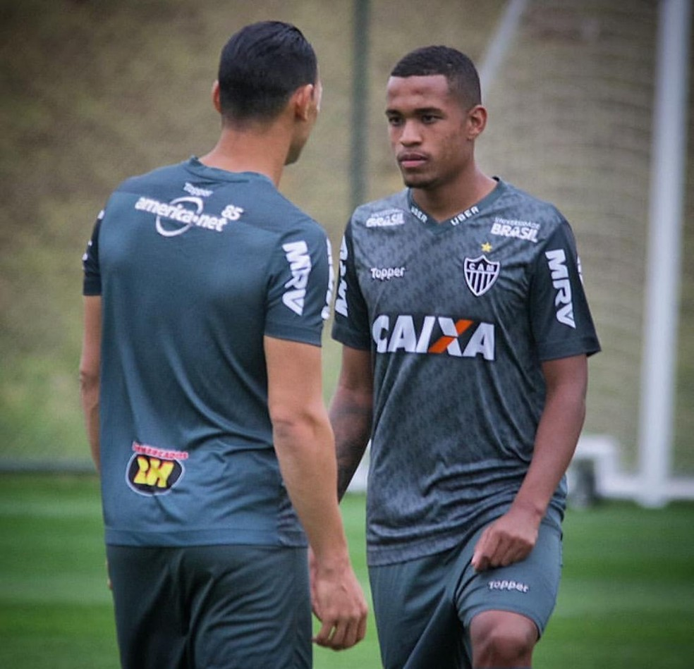Alerrandro e Ricardo Oliveira, os dois centroavantes mais utilizados do elenco atleticano — Foto: Arquivo pessoal/Alerrandro