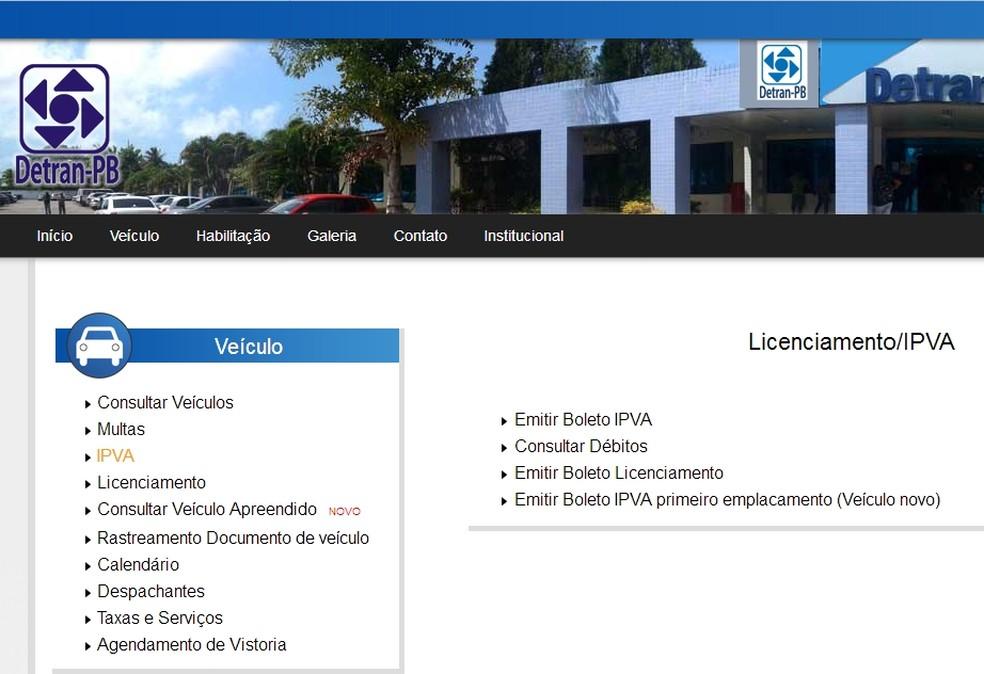 Proprietários de veículos com placa final 3 tem até esta sexta-feira, 31, para pagar o IPVA na Paraíba (Foto: Reprodução/Detran-PB)