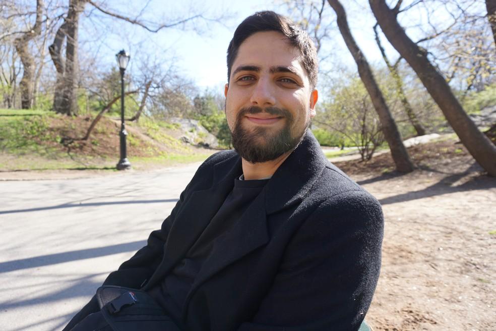 O professor André Barcellos, 31 anos, que recebeu o prêmio Educador Nota 10 em 2020 por um projeto de física para o ensino médio. — Foto: Arquivo Pessoal