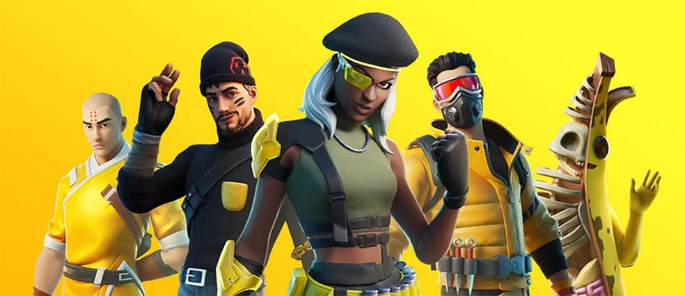 As skins de Fortnite mudam a aparência dos personagens dentro do jogo  — Foto: Divulgação/Epic Games